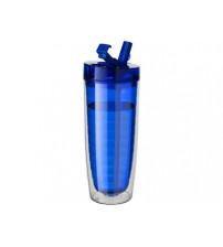 Бутылка 'Sippe', синий прозрачный