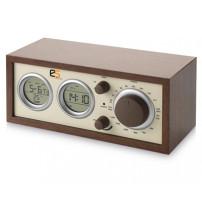 Радио AM/FM 'Classic' Радио, календарь, термометр, измеритель влажности, часы, будильник. Дерево.