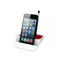 Подставка настольная 'Standi' для ручек и мобильных устройств, красный