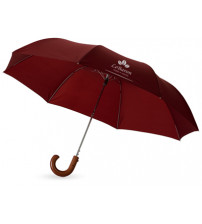 Зонт складной 'Jehan', полуавтомат 23', бордовый
