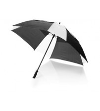 Зонт трость 'Helen', механический 30', черный/белый
