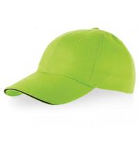 Бейсболка 'Challenge' 6-ти панельная, зеленое яблоко/темно-синий