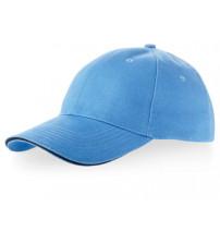 Бейсболка 'Challenge' 6-ти панельная, небесно-голубой/темно-синий
