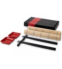 Набор для суши: 2 подложки, 2 соусника, 2 пары палочек, 2 подставки под палочки