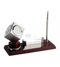 Настольный прибор «Фолкнер»: часы, термометр, гигрометр, ручка, подставка под визитки