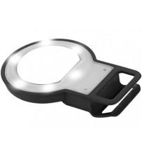 Вспышка 'LED' с зеркалом, черный