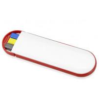 Набор 'Квартет': ручка шариковая, карандаш и маркер, белый/красный