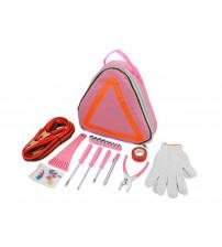 Комплект на случай автомобильной аварии, розовый/оранжевый