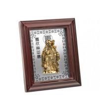 Декоративное панно. Звездный старец Шоу-син является символом здоровья и долголетия. В руках божества посох путешественника из корня женьшеня и волшебный персик бессмертия