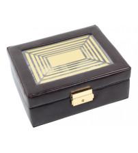 Шкатулка для часов и колец, коричневый/золотистый