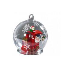 Новогодний шар с Дедом Морозом — машинистом новогоднего экспресса