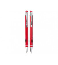 Набор «Онтарио»:ручка шариковая,карандаш в футляре красный