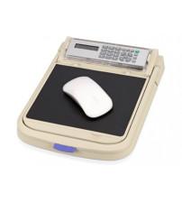 Коврик для компьютерной мыши с калькулятором, линейкой, подставкой для чтения документов, отделениями для хранения канцелярских принадлежностей (принадлежности в комплект не входят)