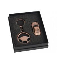 Набор: брелок «Руль», флеш-карта USB 2.0 на 4 Gb в форме автомобиля