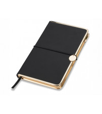 Блокнот 'Golden Rim', черный/золотистый. Lettertone