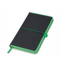 Блокнот 'Color Rim', черный/зеленый. Lettertone