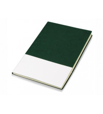 Блокнот 'Fusion', зеленый/белый. Lettertone