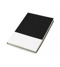 Блокнот 'Fusion', черный/белый. Lettertone