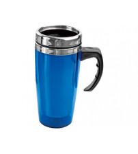 Кружка с термоизоляцией 'Гляссе' 500мл, синий