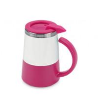 Кружка с термоизоляцией 'Маккиато', белый/розовый