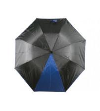 Зонт складной 'Логан' полуавтомат, черный/синий