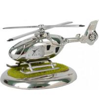 Часы «Вертолет» с посадочной площадкой. Вертолет может «взлетать» и «садиться» на площадку