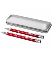 Набор 'Dublin': ручка шариковая, карандаш механический, красный