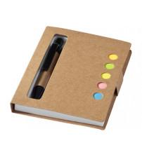 Набор стикеров 'Reveal' с ручкой и блокнотом, натуральный