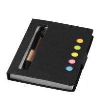 Набор стикеров 'Reveal' с ручкой и блокнотом А7, черный