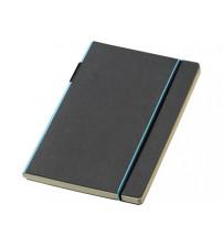 Блокнот А5 'Cuppia', черный/светло-синий
