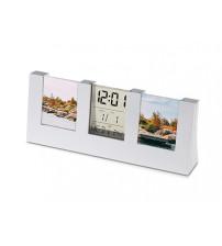 Часы с термометром, датой и двумя рамками для фотографий 4х5 см