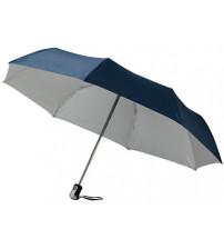 Зонт 'Калдроуз', автоматический 21,5', темно-синий/серебристый