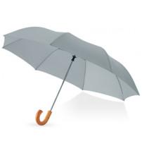 Зонт складной 'Jehan', полуавтомат 23', серебристый
