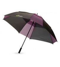 Зонт трость 'Helen', механический 30', черный/темно-лиловый
