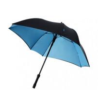 Зонт трость 'Square', полуавтомат 23', черный/синий
