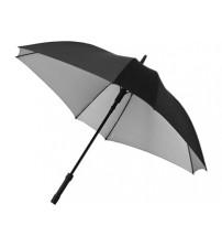 Зонт трость 'Square', полуавтомат 23', черный/серебристый
