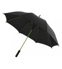 Зонт трость 'Spark' полуавтомат 23', черный/лайм