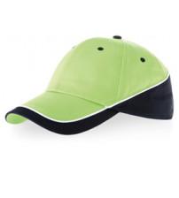 Бейсболка 'Draw' 6-ти панельная, зеленое яблоко/темно-синий/белый