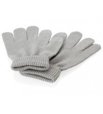 Перчатки для сенсорного экрана S/M, серый