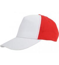 Бейсболка 'Arizona' 5-ти панельная, белый/красный