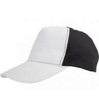 Бейсболка 'Arizona' 5-ти панельная, белый/черный