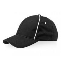 Бейсболка 'Break' 6-ти панельная, черный/белый
