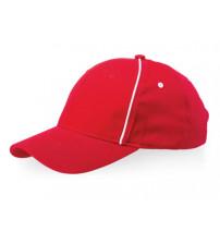 Бейсболка 'Break' 6-ти панельная, красный/белый
