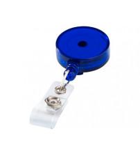 Держатель круглый для бейджа или карты доступа, синий