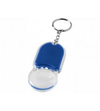 Брелок 'Zoomy' с увеличительным стеклом и фонариком, ярко-синий