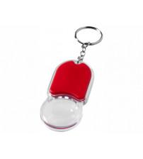Брелок 'Zoomy' с увеличительным стеклом и фонариком, красный