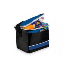 Спортивная сумка-холодильник 'Levi', черный/ярко-синий