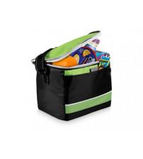 Спортивная сумка-холодильник 'Levi', черный/зеленый