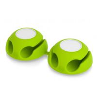 Подставка для кабеля 'Clippi', зеленое яблоко (2 шт.)