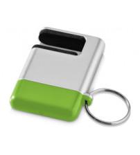 Подставка-брелок для мобильного телефона 'GoGo'с губкой для чистки экрана, зеленый